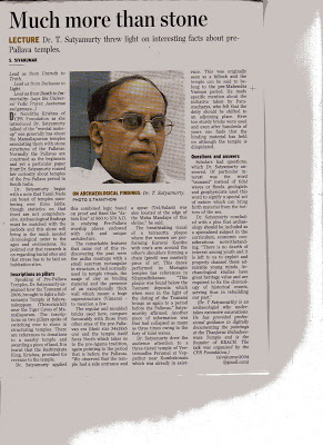 THE HINDU - 13th Aug 2010 -Prepallava Lecture given001